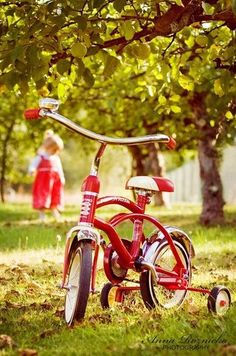 ride, bicycles, park, luscious red, red bike