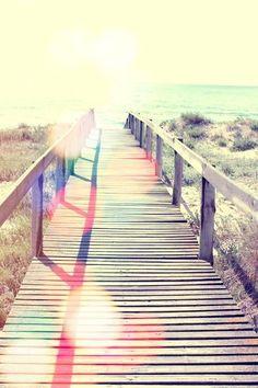 beaches, walks, iphone wallpaper, at the beach, sea, bridges, place, light, beach life