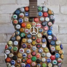 ...bottle cap guitar peace...