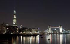 The Shard and Tower Bridge at night  London