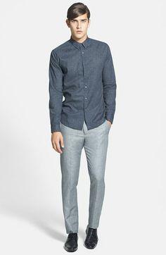 Theory 'Jake W. Bruney' slim fit wool & linen pants
