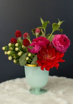 When not in use for sips and bubbly, fill them with holiday blooms aplenty