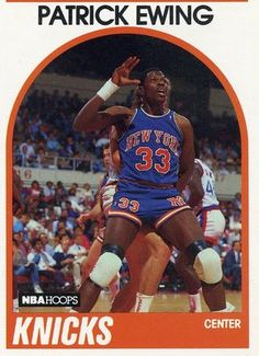 RARE 89/90 NBA HOOPS PATRICK EWING NEW YORK KNICKS MINT