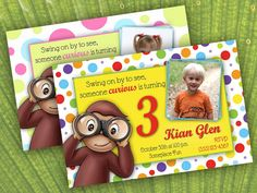 J 3rd bday party ideas (Curious George)