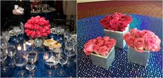 Disco Ball Centerpieces with Pink Roses {Bat Mitzvah by Nancy Swiezy Events} - mazelmoments.com