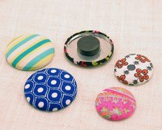 fabric covered lids to magnets