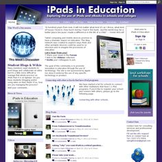 Many iPad in classroom resources here