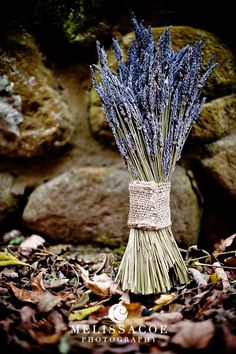 DIY dried lavendar bundle with burlap