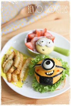 Minion Bento Burger