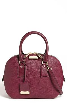 Burberry 'Orchard - Small' Leather Satchel