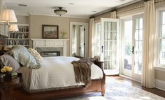 Dreamy bedroom with French doors