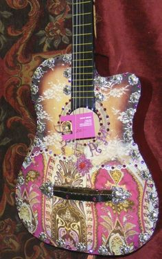 Lace painted guitar