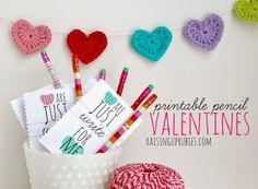 just write printable pencil valentines