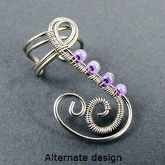 Freeform Woven Swirls Ear Cuff http://www.brandywinejewelrysupply.com/blog/3-stylish-ear-cuff-tutorials/