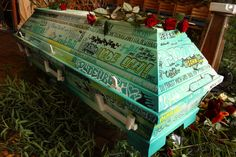 casket of a grafitti artist