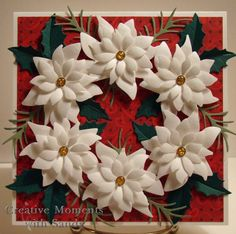 Poinsettia Wreath by shulsart - Cards and Paper Crafts at Splitcoaststampers