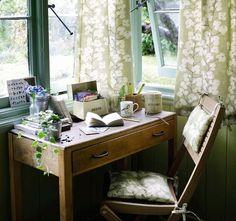 cozy desk.
