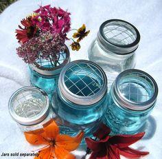 mason jar lids for flower arrangements