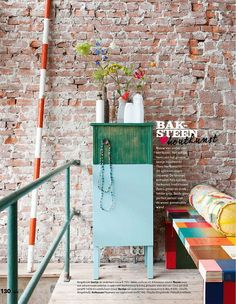 exposed brick and color!