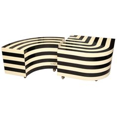 Stripe Vintage Modern. Op Art Tables by Anne Herbst.