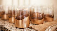 DIY Gold Leaf Glasses   Trouvé Magazine