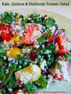 kale, quinoa, heirloom tomato salad ~ meatless monday ~ full of superfoods!
