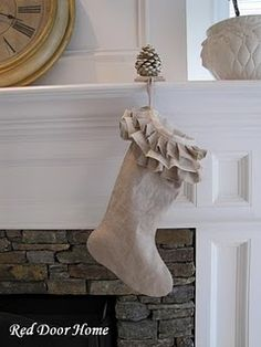 burlap & linen stockings!!! for Christmas this year
