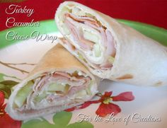 Turkey Cucumber Cheese Wrap - The Garden Vegetable Laughing Cow cheese makes these healthy wraps so good!
