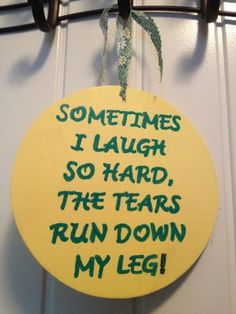 Tears run down my leg sign