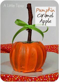 7 Steps to make a Pumpkin Caramel Apple