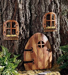 can we please make these or something and put them high up in some trees so when girls make fairy houses, they can discover these on a hike?