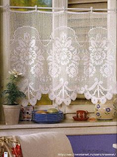 rose curtain and numerous other curtain/doily charts
