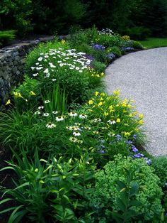 This GardenWeb forum post has LOADS of garden inspiration!