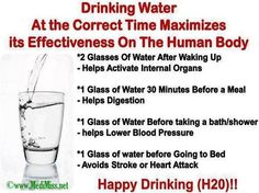 Very interesting!....Drinking water at correct time maximizes its effectiveness on the Human body