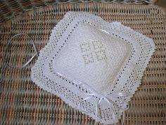 WOW intricate hardanger cushion