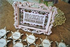 vintage cowgirl party pins, adorable!