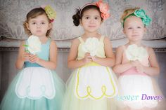Easter dress girls Easter tutu dress retro Apron dress for girls for tea party  in mint green yellow and peach