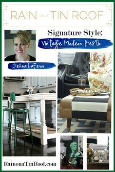 My Signature Style: Vintage Modern Rustic via RainonaTinRoof.com #homedecor