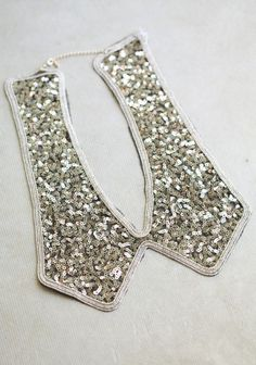 sequined collar