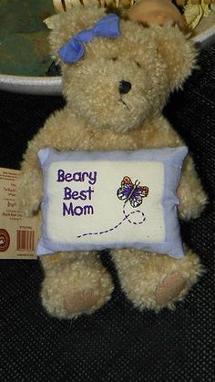 DARLING 9' PLUSH BOYDS BEARS SUSIE B. BEARLOVE BEST MOM with TAGS - LOOKS GREAT!