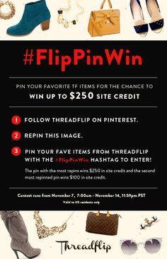 Pin for the chance to win $250! #FlipPinWin // #contest #giveaway #fashion #shopping