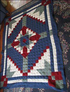 Desert Star Crochet Quilt