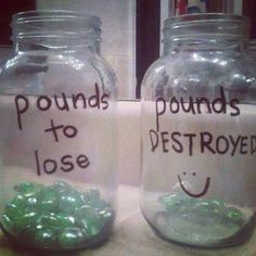 good motivation.. money would be better (spend the money of pounds you've accomplished)