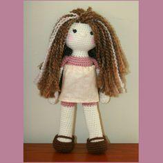 Beautiful crochet doll made by Purple Bird Crochet