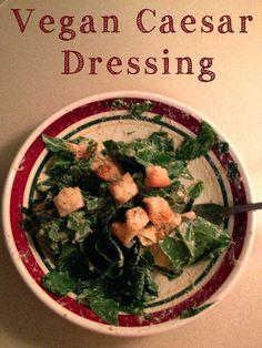 Amy's Nutritarian Kitchen: Vegan Caesar Dressing