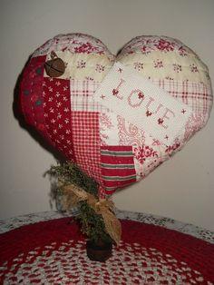 Valentines Quilt Heart LOVE Cross Stitch Make