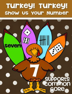 Turkey! Turkey! Show Us Your Number - Kindergarten Math Common Core. Create a number display for Thanksgiving! $