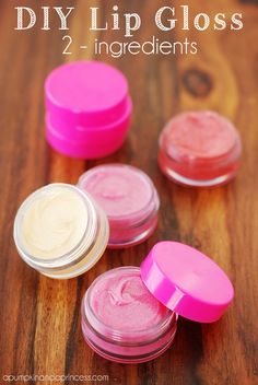 DIY Lip Gloss using TWO ingredients!