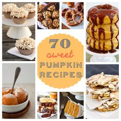 70 sweet pumpkin recipes