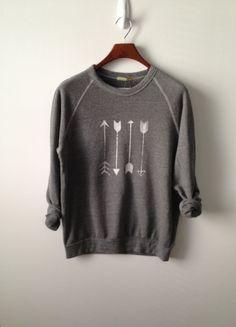 Arrow . Champ Sweatshirt by greythread on Etsy #cute #oversisedsweaters
